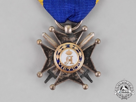 Military Division, Silver Merit Cross (with swords) Obverse