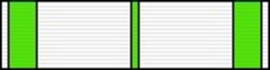 III Class Medal (for Scientific Research, 2000-) Ribbon