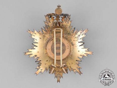 Grand Cross Breast Star (1893-1910) Reverse