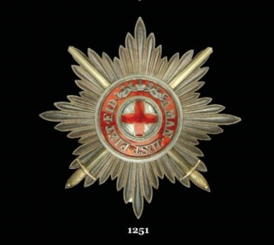 Order of St. Anne, Type II, Military Division, I & II Class Breast Star