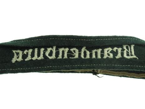German Army Brandenburg Cuff Title Reverse