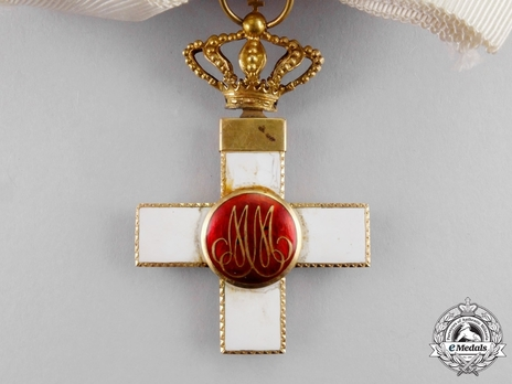 4th Class Grand Cross (white distinction) (with Fleur of Lys and Royal Crown) Reverse