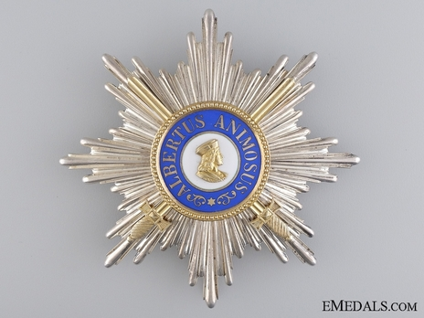 Type II, Military Division, Grand Cross Breast Star (with swords 1901/05/15-18)