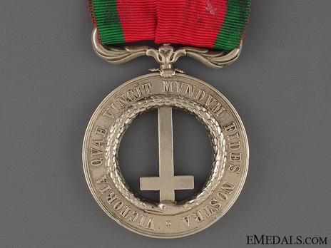 Castelfidardo Medal, for Officers Reverse