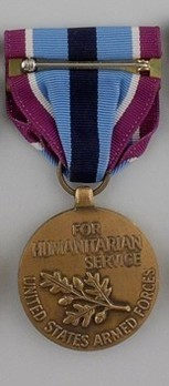 Humanitarian Service Medal Reverse