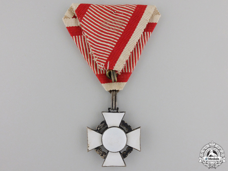 Type II, Military Division, III Class Cross (with swords) Reverse