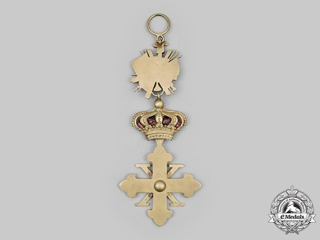 Constantinian Order of St. George, Knight of Grand Cross (Justice) Reverse