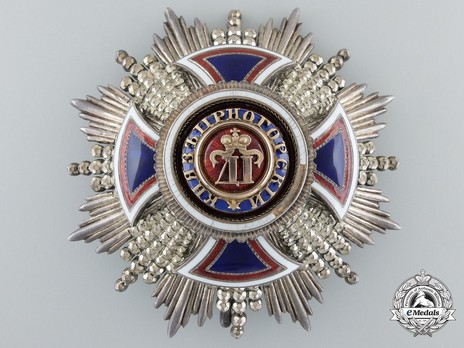 Order of Danilo I (Merit for the Independence), Type III, II Class, Grand Officer Breast Star Obverse