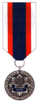 Decoration for Meritorious Policemen, II Class Obverse