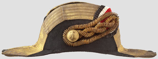 Kriegsmarine Admiral & Commodore Ranks Naval Fore-and-Aft Hat Right