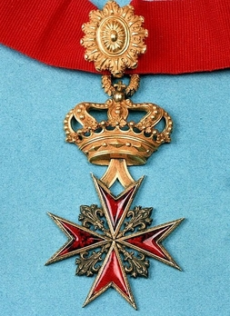 Military Order of Saint Stephen, Type II, Commander (with crown) Obverse