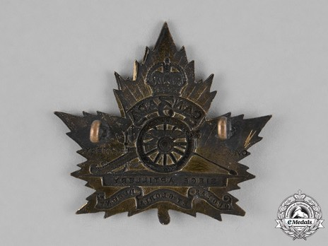 3rd Siege Battery Other Ranks Cap Badge Reverse