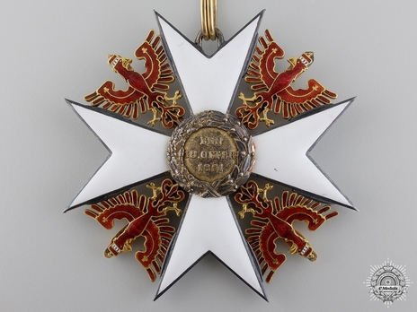 Order of the Red Eagle, Type V, Military Division, Grand Cross (with swords, in gold) Reverse