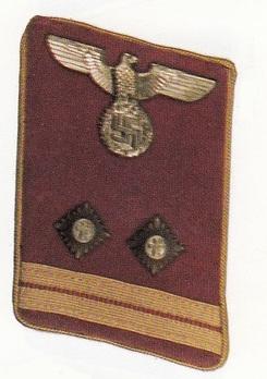 NSDAP Haupt-Bereitschaftsleiter Type IV Reich Level Collar Tabs Obverse