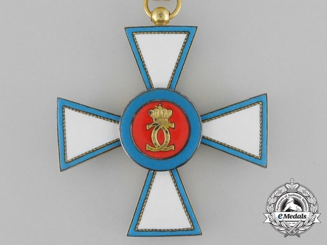 Order of Merit of the Grand Duchy of Luxembourg, Grand Officer (in Silver gilt) Reverse