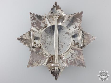 Order of Homayoun, I Class Breast Star Reverse