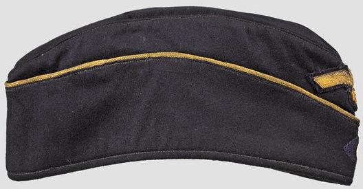 Kriegsmarine Blue Officer Ranks Board Cap (Bullion version) Right