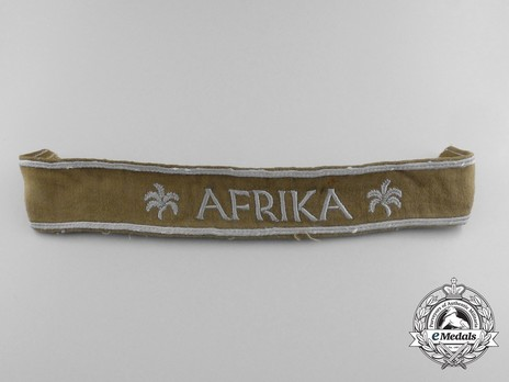 German Army Afrika Cuff Title (2nd version) Obverse