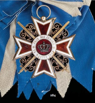 Order of the Romanian Crown, Type I, Military Division, Grand Cross