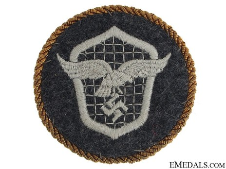 Motorized Support Troops of the Luftwaffe Badge with Gold Cord Obverse