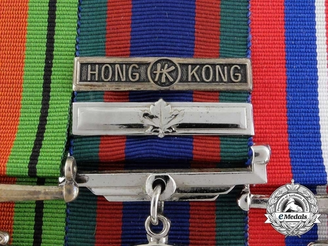 """Silver Medal (with """"HONG HK KONG"""" clasp) Obverse Detail"""