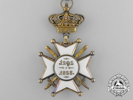 Order of Civil and Military Merit of Adolph of Nassau, Commander with Crown, in Gold (Military Divison) Reverse