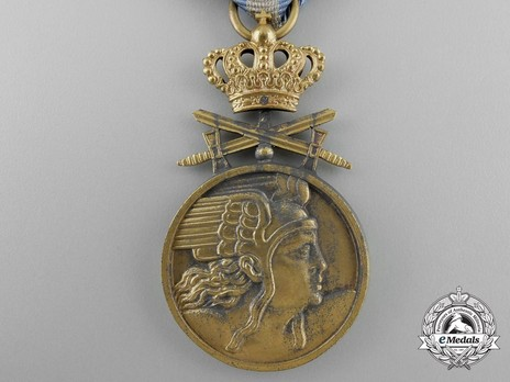 Medal of Aeronautical Virtue, Military Division, I Class (wartime) Obverse
