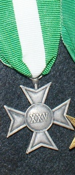 Silver Cross (for 25 years) Reverse