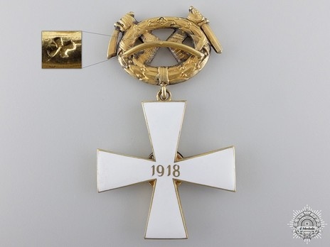 Order of the Cross of Liberty, Military Division, II Class Commander (1918) Reverse