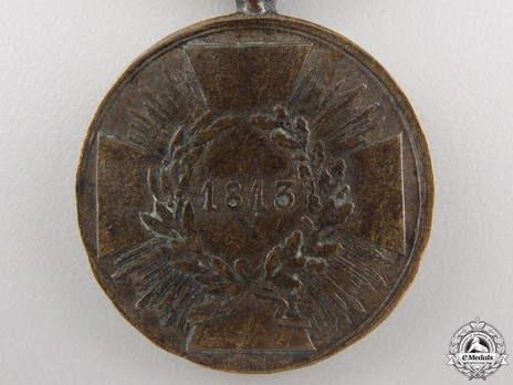 Medal for Combatants (with squared arms 1813) Reverse