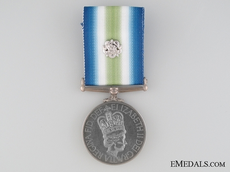 Medal (for service in combat zone, with rosette) Obverse