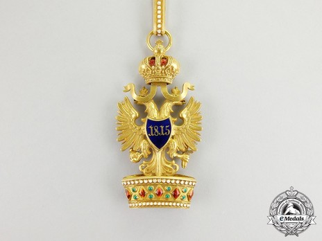 Order of the Iron Crown, Type III, Civil Division, II Class (in Gold) Reverse