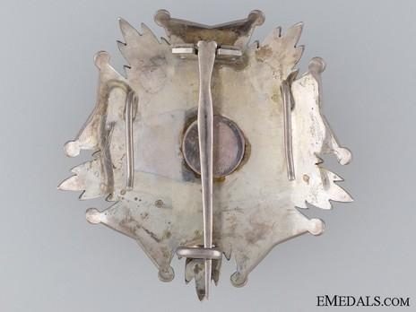 Grand Officer Breast Star (1908-) Reverse