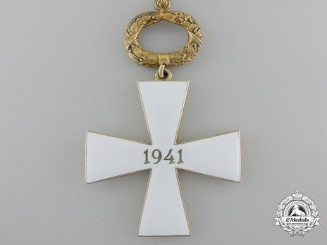 Order of the Cross of Liberty, Civil Division, I Class Commander (1941) Reverse