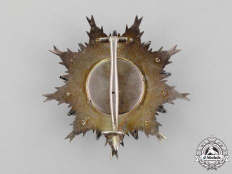 Grand Officer Breast Star (1926-) Reverse