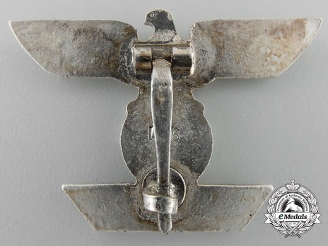 Clasp to the Iron Cross I Class, Type II, by Funcke & Brüninghaus (L/56) Reverse