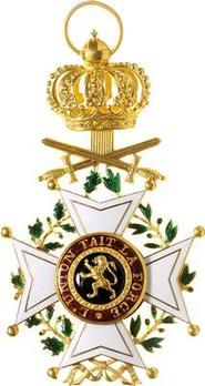 Order of Leopold, Commander (Military Division, 1832-1951) Obverse