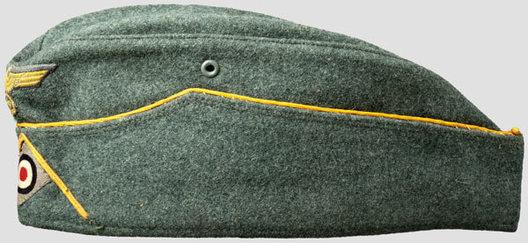 "Kriegsmarine Officer Ranks Early ""Klappmütze"" Coastal Artillery Field Cap Left"