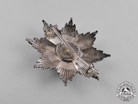 The Order of the Star of Romania, Type II, Military Division, Grand Officer's Breast Star Reverse