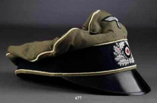 German Army Infantry Officer's Old Style Visor Cap Right Side