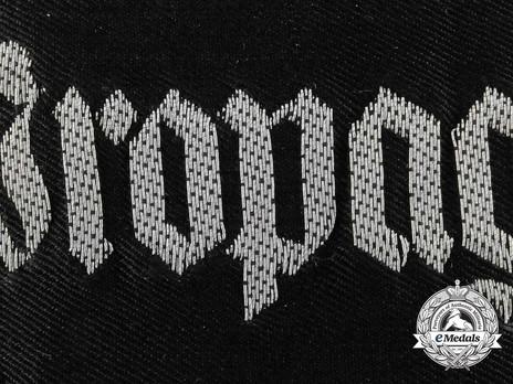 German Army Propagandakompanie Cuff Title Obverse Detail 2