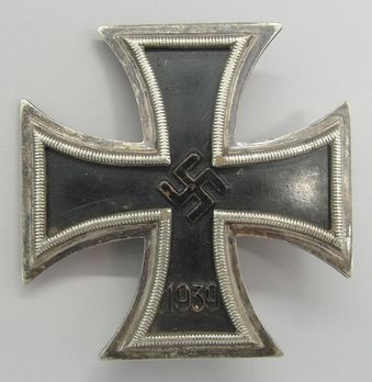 Iron Cross I Class, by W. Deumer (Schinkel, pinback, non-magnetic) Obverse