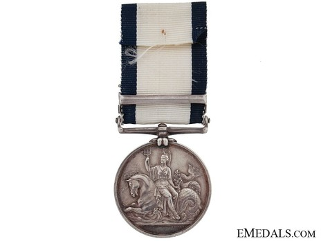 """Silver Medal (with """"PELAGOSA 29 NOVR 1811"""" and """"4 MAY BOAT SERVICE 1811"""" clasps) Reverse"""