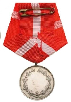"""Silver Medal (without crown stamped """"LINDAHL"""") Reverse"""