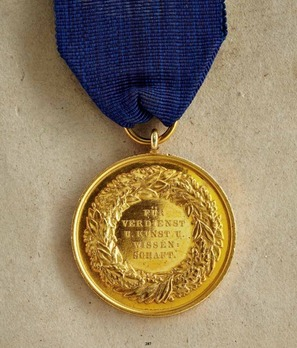 Service Medal for Art and Science, Type III, in Gold (1898-1918)