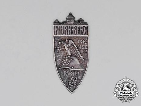Nuremberg Party Rally Plaque, in Silver Obverse