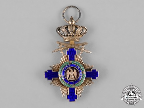The Order of the Star of Romania, Type I, Military Division, Knight's Cross (peacetime) Obverse