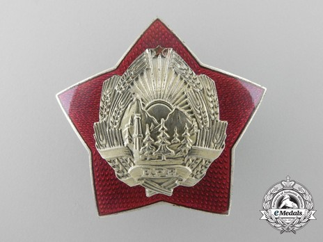 Order for Special Merit in the Defence of the State and Social Order, II Class Breast Star (1958-1965) Obverse