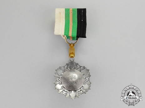 Supreme Order of the Renaissance (Wisam Al Ordani Al Nahda), IV Class Officer Reverse