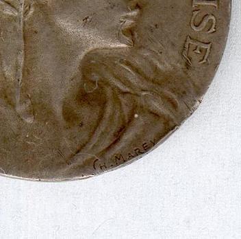 "Silver Medal (stamped ""CH MAREY,"" 1902-1925) (Silver) Obverse Detail"